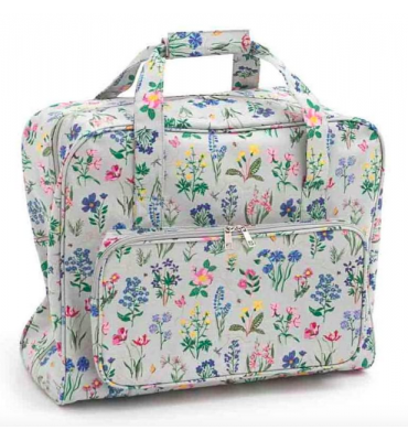 sac de transport machine a coudre dessins fleurs